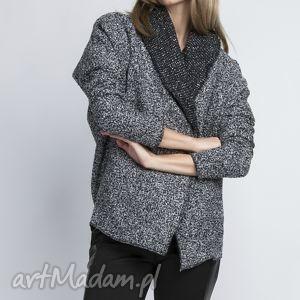 Żakiet, ZA109 szary, żakiet, płaszcz, casual, płaszczyk, kardigan, kieszenie