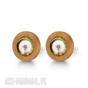 Dmuchawiec - drewniane spinki do mankietów liliarts spinki