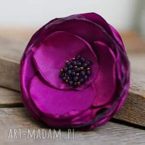 elegancka broszka przypinka kwiatek, upominek prezent dla niej