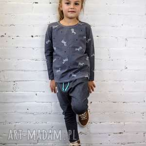Spodnie BAGGY grafit, spodnie, baggy, dziecko, haremki, wiosna, przedszkole