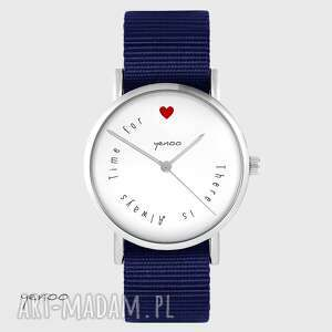 Yenoo Zegarek yenoo - There is always time for love - granatowy,