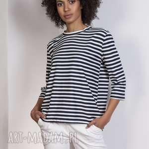 Luźna bluzka-frak, BLU140 paski, bluzka, casual, frak, luźna, bluza, elegancka