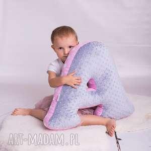 Poduszka dziecięca literka wybór koloru, poduszka-literka, personalizacja