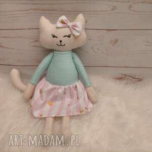 hand-made maskotki kociak tilda przytulanka