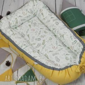 pokoik dziecka wysyłka do uk kokon dla niemowlaka musztardowy vintage
