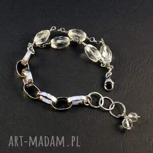 wyjątkowy prezent, kryształ uniwersalny, górski, srebrna bransoletka