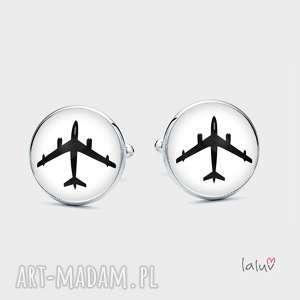 Prezent Spinki do mankietów BOEING, samolot, prezent, pilot, latanie, niebo, podróże