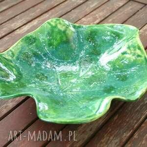 ceramika patera/półmisek liść, artystyczna, patera, na stół