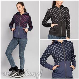 kurtka łącząca w sobie dwie tkaniny, kurtki, damskie, młodzieżowe, jesienne