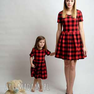Komplet sukienek Kratka, kratka, komplet, sukienki, mamaicórka, rozkloszowane