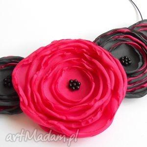 kwiatowa kolia, kwiaty, kobieta, biżuteria, naszyjnik, modny, prezent naszyjniki