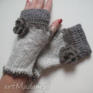 rękawiczki mitenki - rękawiczki, mitenki, wełniane, dodatki