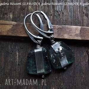 NA SUROWO kolczyki ze szkła antycznego i srebra, szkło, afgańskie, antyczne, srebro