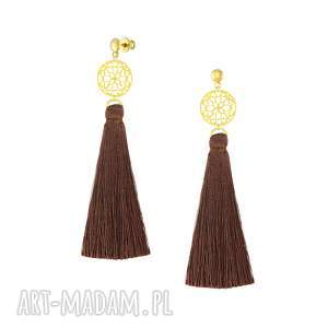 handmade kolczyki długie kolczyki z chwostem - boho