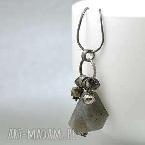 hand-made naszyjniki srebro z labradowytem