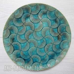 handmade ceramika fantazyjny talerz dekor