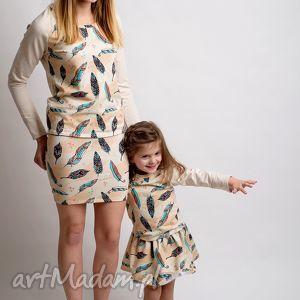 komplet spódniczek dla mamy i córki piórka , spódkiczki, komplet, mamaicórka