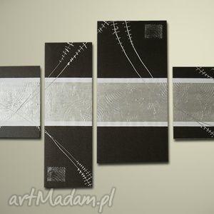 aleobrazy ręcznie malowany obraz nowoczesny 9xxl - 150x70cm, obraz,