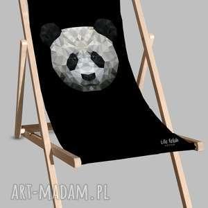 dom leżak czarny z pandą
