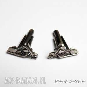 motory - spinki do mankietów, srebro, biżuteria, motor, harley, spinki, motoryzacja