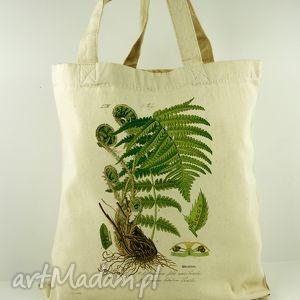 na zakupy torba paprociak - płócienna, prezent, dzień, matki, ekologiczna, oryginalna
