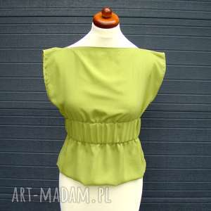 barska bluzka szyfonowa zielona, bluzka, bluzeczka, szyfon, szyfonowa, elegancka