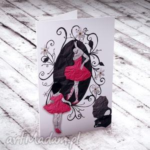 kartki mieć marzenie karteczka, kartki, baletnica, taniec, tancerka, życzenia