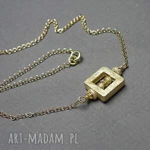naszyjniki industrial /cube/vol 2 - naszyjnik, srebro, srebro pozłacane