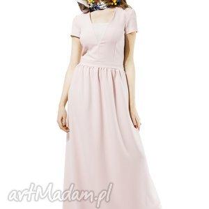 Pudrowa suknia Amore, suknia, pudrowa, dluga, kasiamiciak, balowa, elagancka
