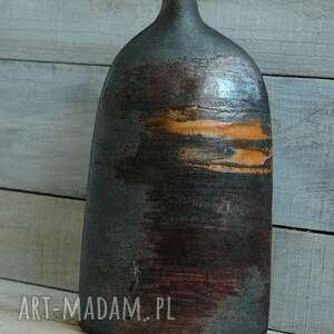 ręcznie zrobione wazony ceramiczny wazon raku dwustronny wyjątkowy okopcony
