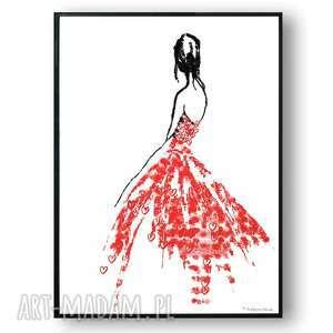 grafika w ramie ubrana miłość 30x40, miłosne, kobieta, na prezent, romantyczne
