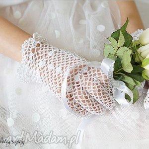 hand made dla dziecka rękawiczki komunijne