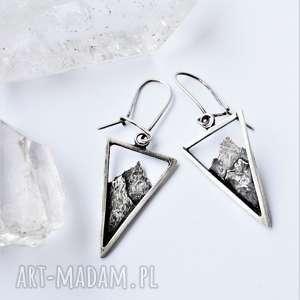 kolczyki góry, srebro, tatromanik, trójkąty, miłośnik gór, srebrne
