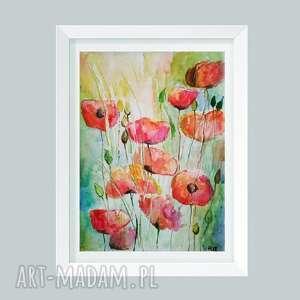 paulina lebida maki-akwarela formatu 18/24 cm, akwarela, papier, maki, farby