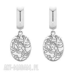 sotho srebrne kolczyki art n°2 - medaliony, srebro bigle