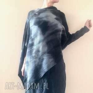 swetry elegancka wełniana asymetryczna bluzka, sweter, ponczo