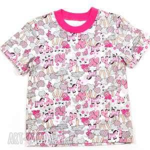 safari bluzka bawełniana dla dziewczynki, koszulka, t-shirt 68-122, t shirt