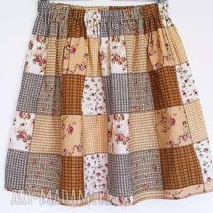 spódnice ostatnia // spódnica pachwork w kwiaty, paczwork, kratkę, różyczki