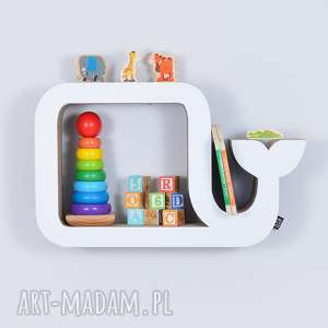 półka na książki zabawki wieloryb ecoono biały - półka