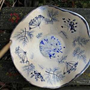rustykalna patera ceramiczna ze szkłem, dzień babci, prezent na nowy dom