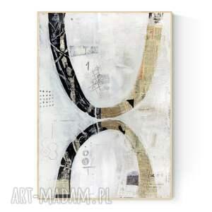 obraz na płótnie abstrakcja 50 x 70 cm, ręcznie malowany, do salonu