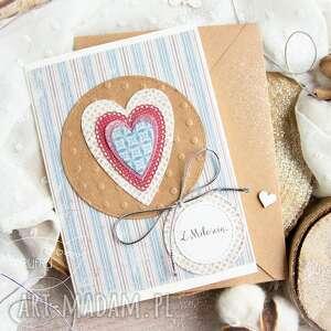kartki patchworkowe serce kartka urodzinowa miłosna