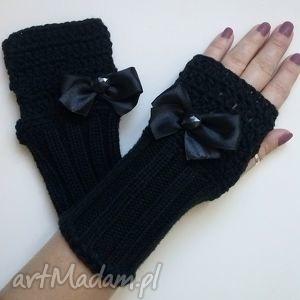 rękawiczki mitenki - rękawiczki, mitenki, włóczkowe, rękodzieło