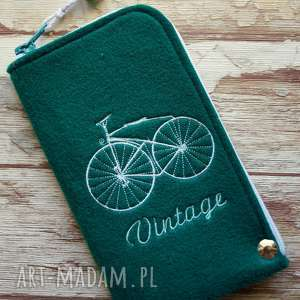 Prezent Filcowe etui na telefon - Vintage Bike, smartfon, pokrowiec, rower, retro