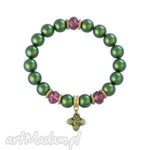 lavoga skarabeusz , swarovski, perła, bransoleta biżuteria