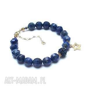 gwiazdka z nieba - bransoletka, srebro pozłacane, lapis lazuli