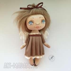 handmade pokoik dziecka e-piet aniołek - dekoracja ścienna figurka tekstylna ręcznie