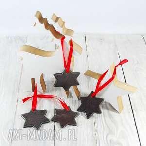 święta prezenty Ceramiczne gwiazdki, zawieszki choinkowe Boże Narodzenie,