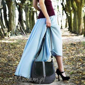 sashka - torebka na ramię czerń i grafit, listonoszka, wygodna, praktyczna, miejska
