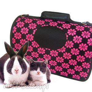 torba zwierzaka mała, torba, pies, kot, różowa torebki
